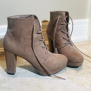 Suede Heeled Boots F21